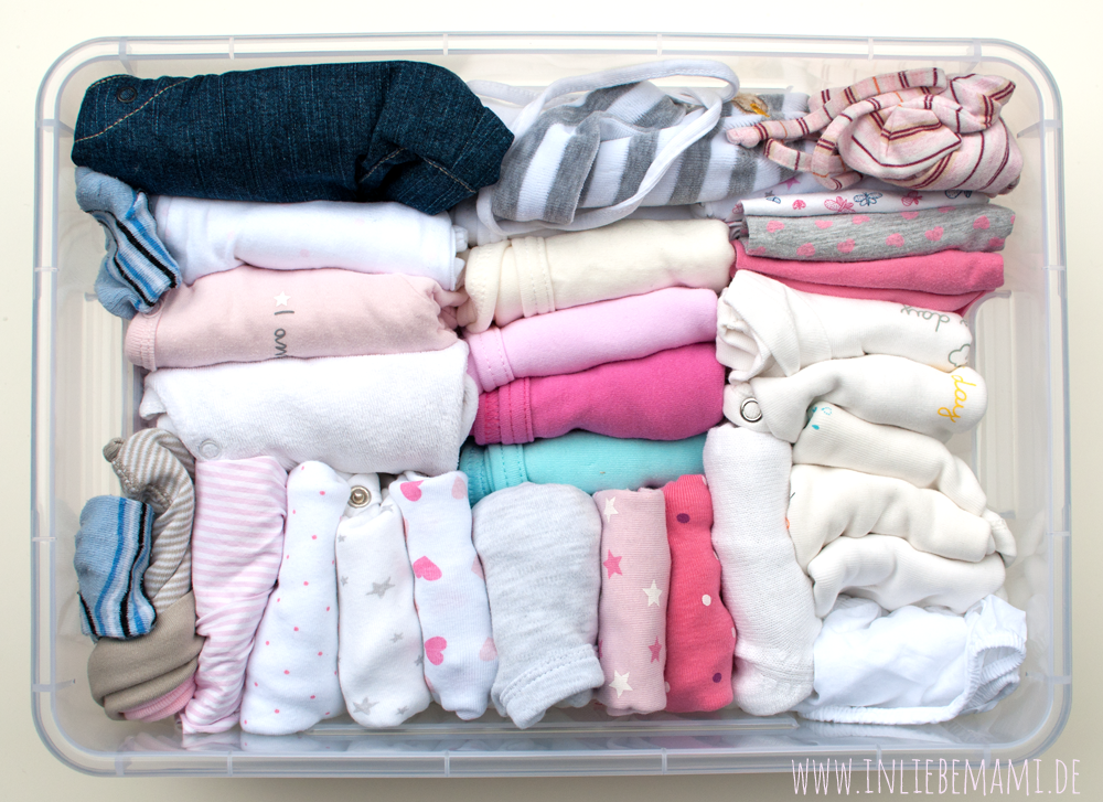 Babykleidung aufbewahren, Babykleidung organisieren, Babykleidung verstauen