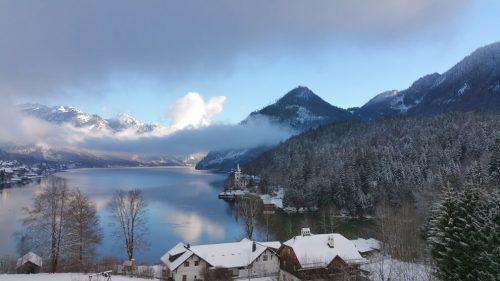 Winterlandschaft mit See