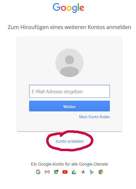 Gmail Konto erstellen - In Liebe Mami