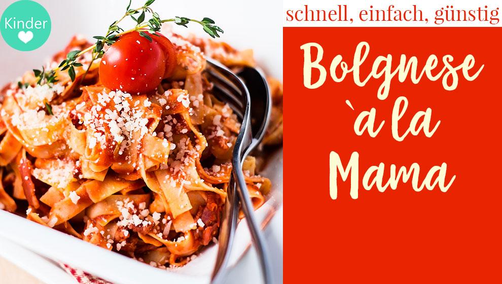 Rezept Bolognese Sauce für Spaghetti Bolognese