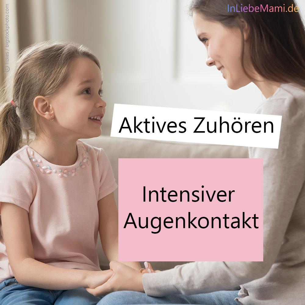 Aktives Zuhören bei Kindern, Jugendlichen und Teenagern. Bessere Kommunikation. Bessere Beziehung zwischen Eltern und Kind. Teil 1 Intensiver Augenkontakt