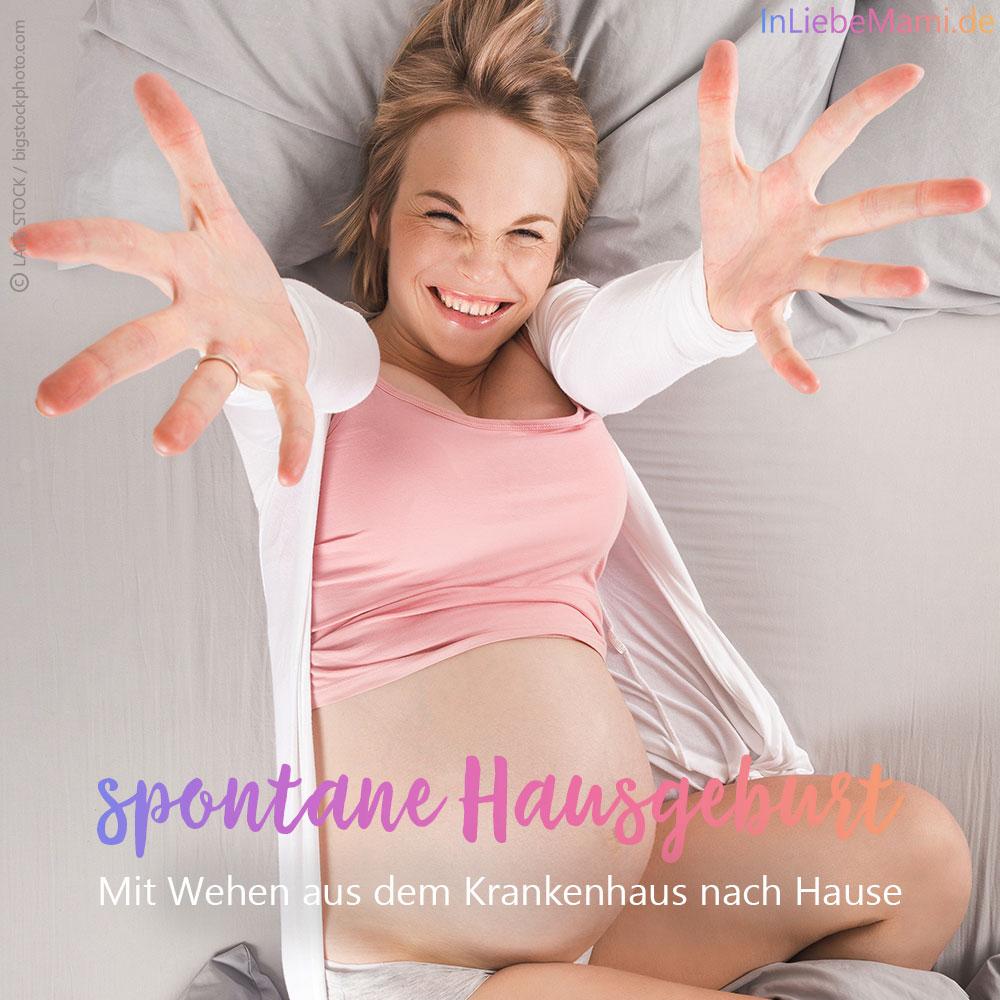 spontane Hausgeburt, obwohl eine Geburt im Krankenhaus geplant war. Geburtsbericht
