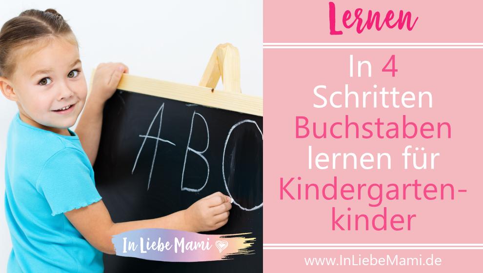 Buchstaben lernen für Kindergartenkinder