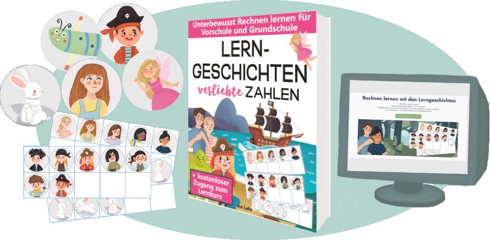 Bilderbuch Lerngeschichten verliebte Zahlen von Ina Lehr, Mathe, Rechnen lernen, Partnerzahlen